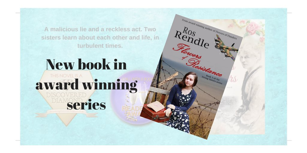 #feelgood #histfic Love story and a thriller. No.3 in the series but a stand-alone story too.  https://www. amazon.co.uk/Flowers-Resist ance-Strong-Sisters-Book-ebook/dp/B074ZHB7KW/ref=sr_1_2?ie=UTF8&amp;qid=1508178008&amp;sr=8-2&amp;keywords=Ros+Rendle &nbsp; …  #TuesNews @RNAtweets<br>http://pic.twitter.com/NatxPWq6N6