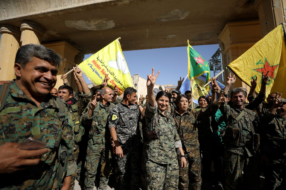 BREAKING: U.S.-backed forces say they've pushed ISIS out of Raqqa, the group's de facto capital in Syria.
