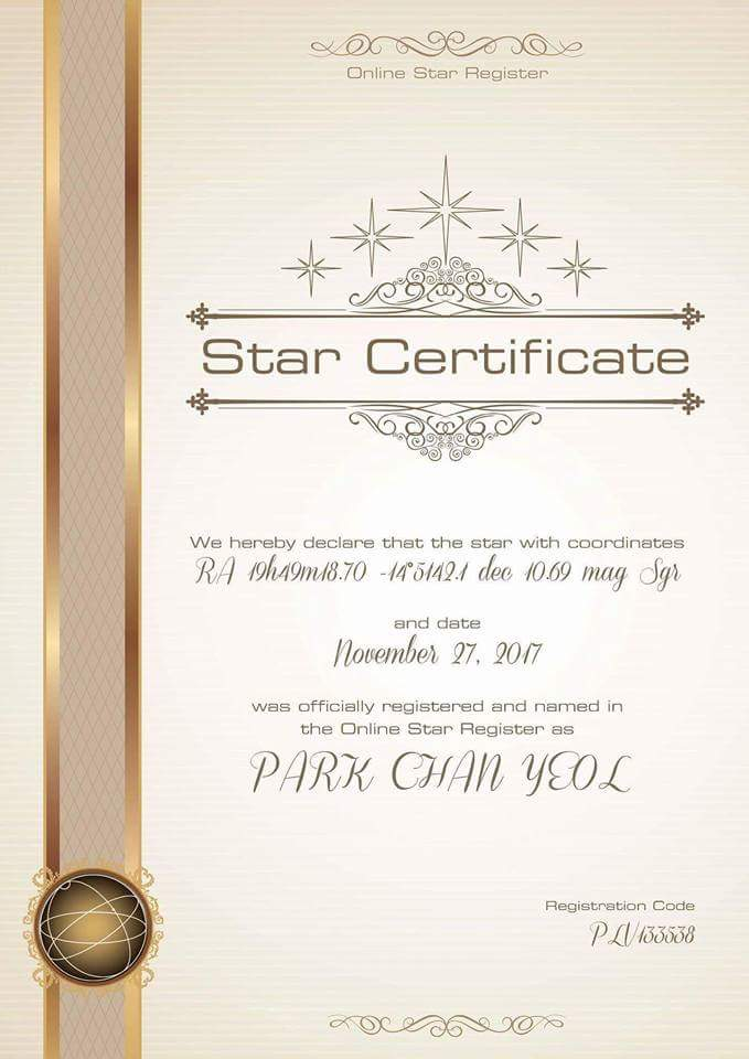 MYANMAR EXOLs (chanyeolisms) bought a star for @weareoneEXO &#39;s chanyeol for birthday present !!  #EXO #EXOLsMemeParty #EXOL !! <br>http://pic.twitter.com/3VcnWfSTeO