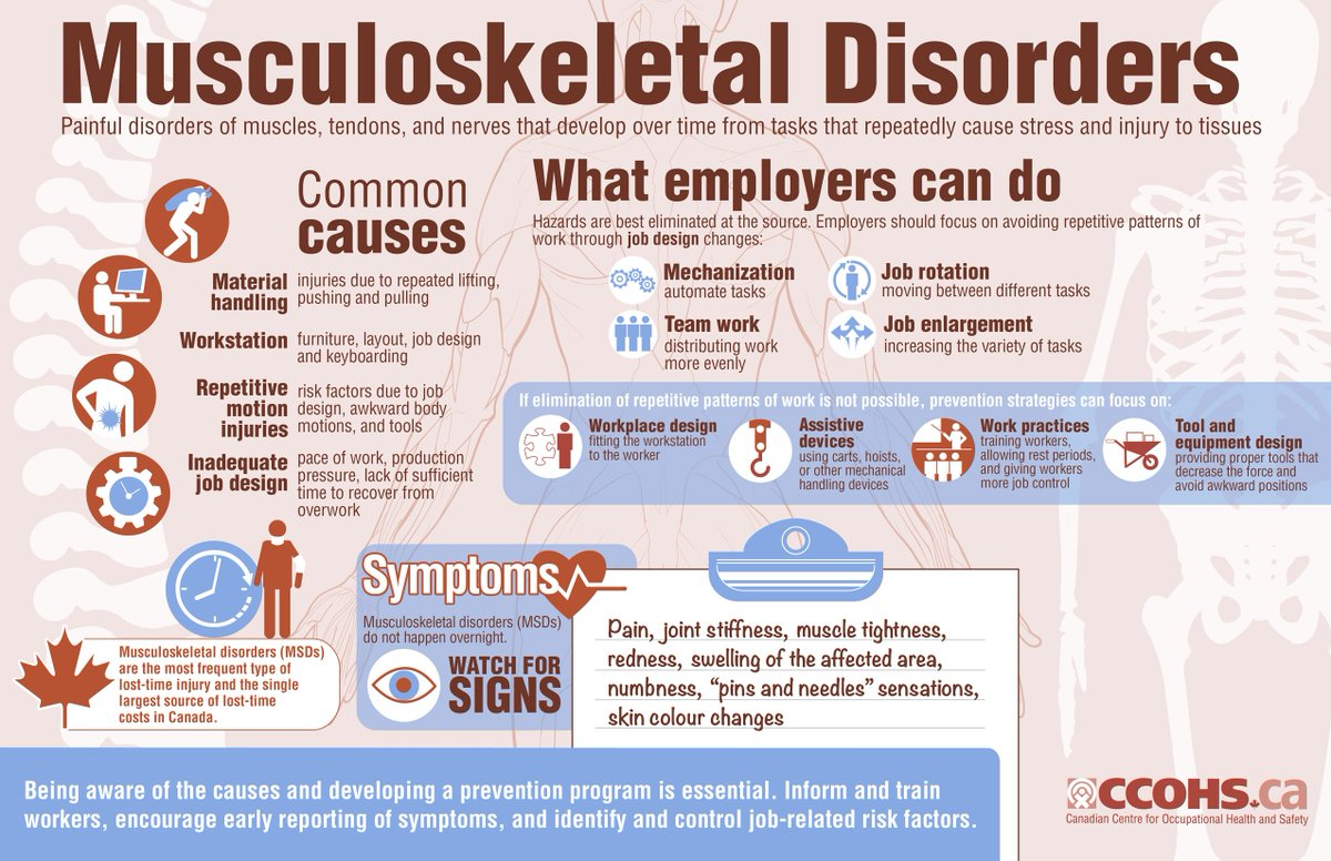Musculoskeletal disorders: what employers can do #ergonomics #infographic  http:// ow.ly/FAfk30fVTC9  &nbsp;  <br>http://pic.twitter.com/WDbVM1Vkea