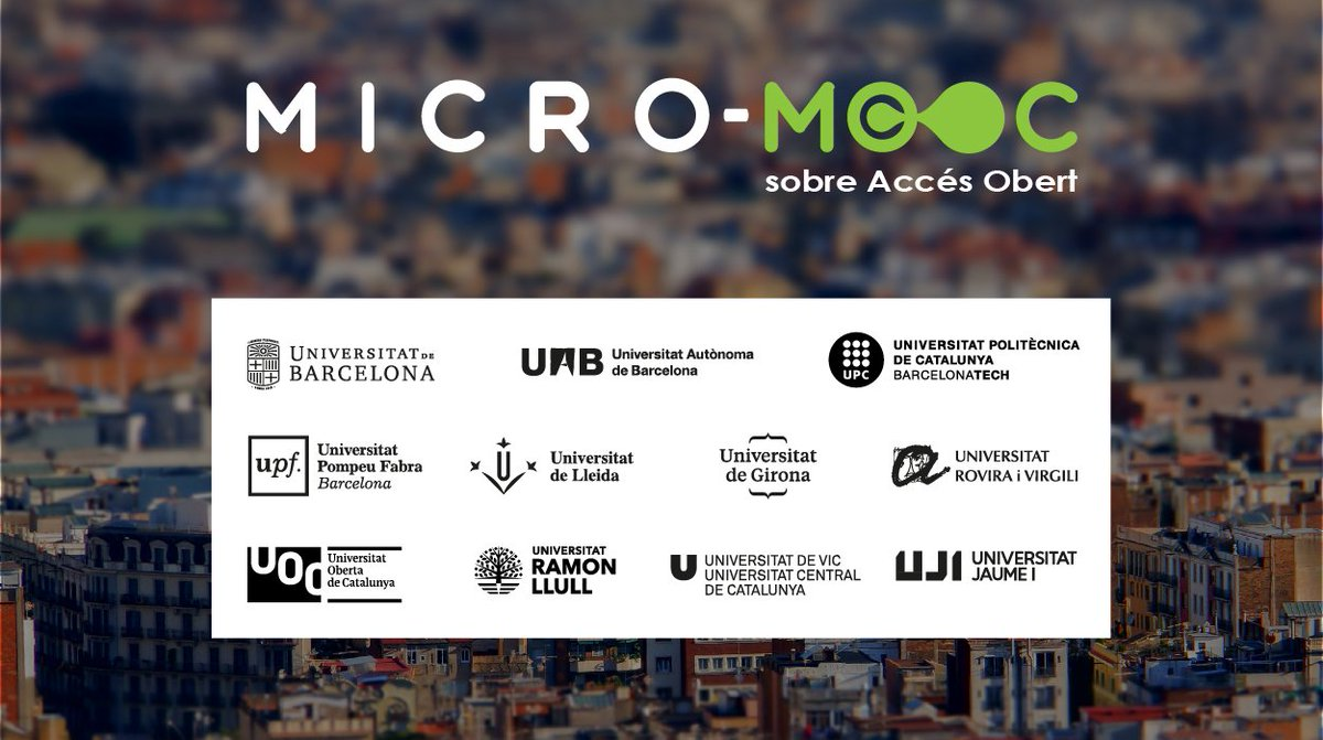 .@UOC_research is running a short #MOOC on #openaccess #OAMOOC with 11 more universities 23-27 October @moocmicro  http:// bit.ly/2xvVluz  &nbsp;  <br>http://pic.twitter.com/UFf3snnUUx