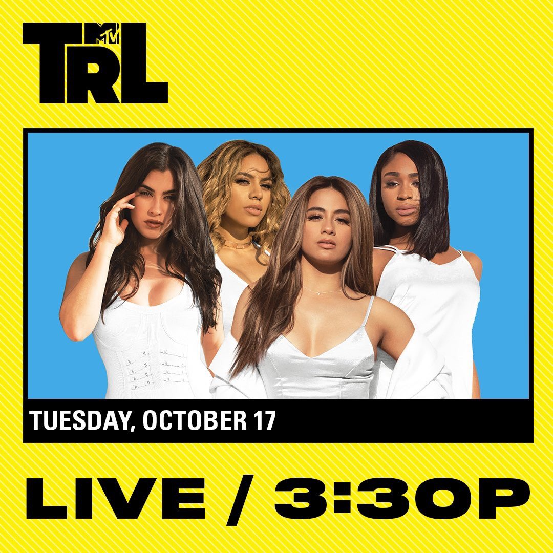 .@FifthHarmony on @TRL today. I'm cool w/ Long Island #harmonizers watching, but gotta be on mute. #LISTEN to me &amp; @MJonAir on @1061BLI.<br>http://pic.twitter.com/bpJrVbTQLv
