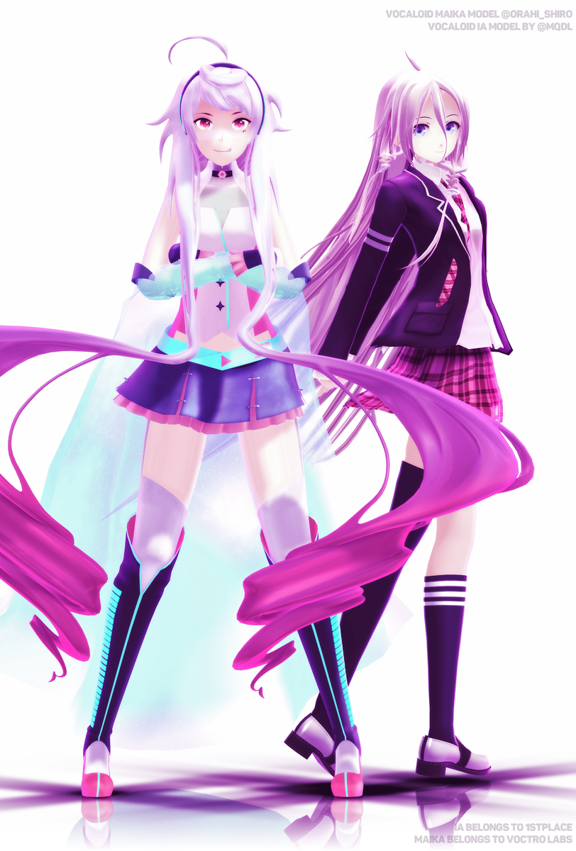 Pink and White #IA by @mqdl / @1st_PLACE0302 #MAIKA by me / @VoctroLabs ( http:// download.osformula.com/osmaika2  &nbsp;  )<br>http://pic.twitter.com/repv3UdVVQ