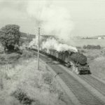 Ex War Department 2-8-0 90319 on trip working K36 (empty mineral wagons to Dalmellington). Seen at Dalrymple Jct 27th Sep 1960. Jas. Currie