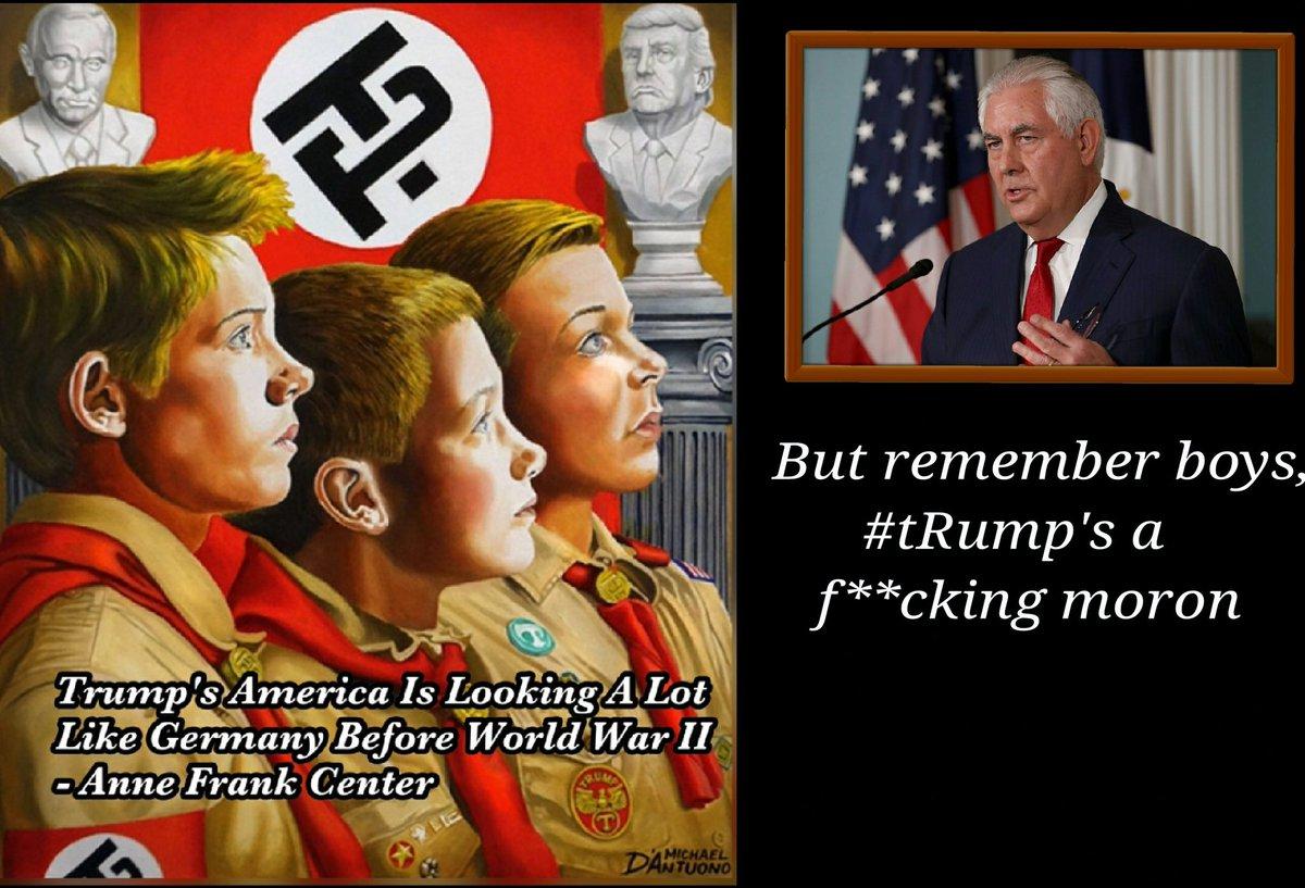 But remember boys, #tRump&#39;s a f**cking moron - #RexTillerson, pres BSA <br>http://pic.twitter.com/qO7SJlsX5r