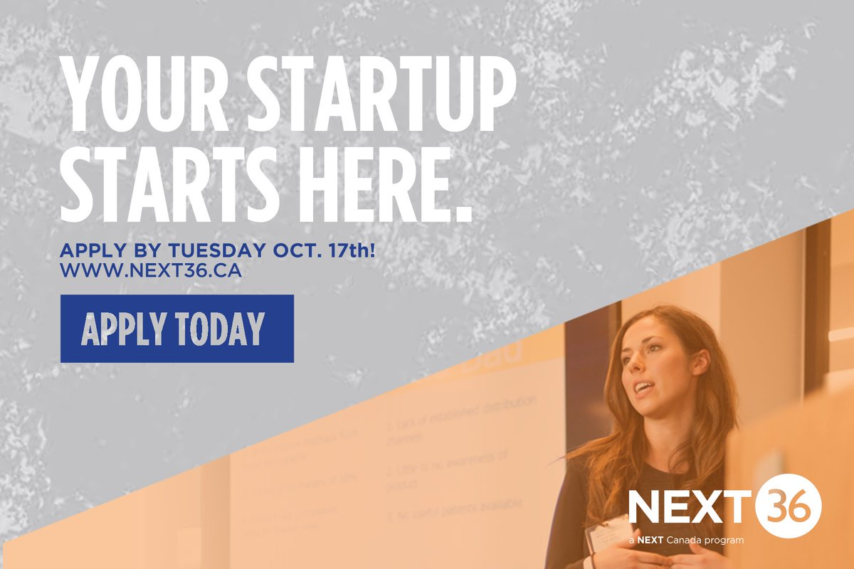 PSA: @next36 app deadline is TONIGHT! If you&#39;re an #entrepreneurialspirit &amp; want to create impact, this is for you   http:// bit.ly/2gstatT  &nbsp;  <br>http://pic.twitter.com/Z1D8Lf2mUL