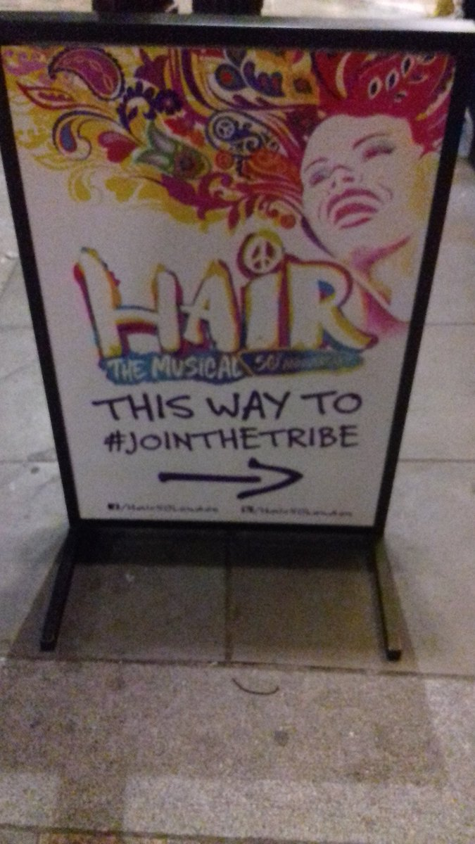 So excited for gala night of @Hair50London! Well done @hopemilltheatr1 @WilliamWhelton @Joseph_Houston @AriaEnts! #manchester #jointhetribe <br>http://pic.twitter.com/no3XCS26vz