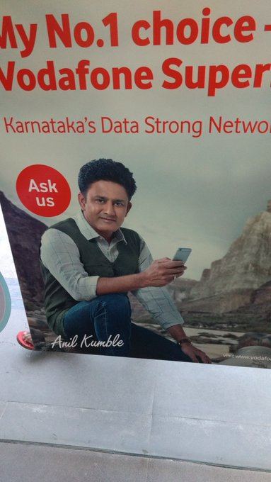 Anil Kumble is everywhere today. Happy Birthday Jumboavre