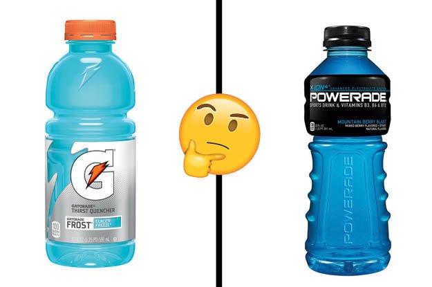 Are You More Gatorade Or Powerade