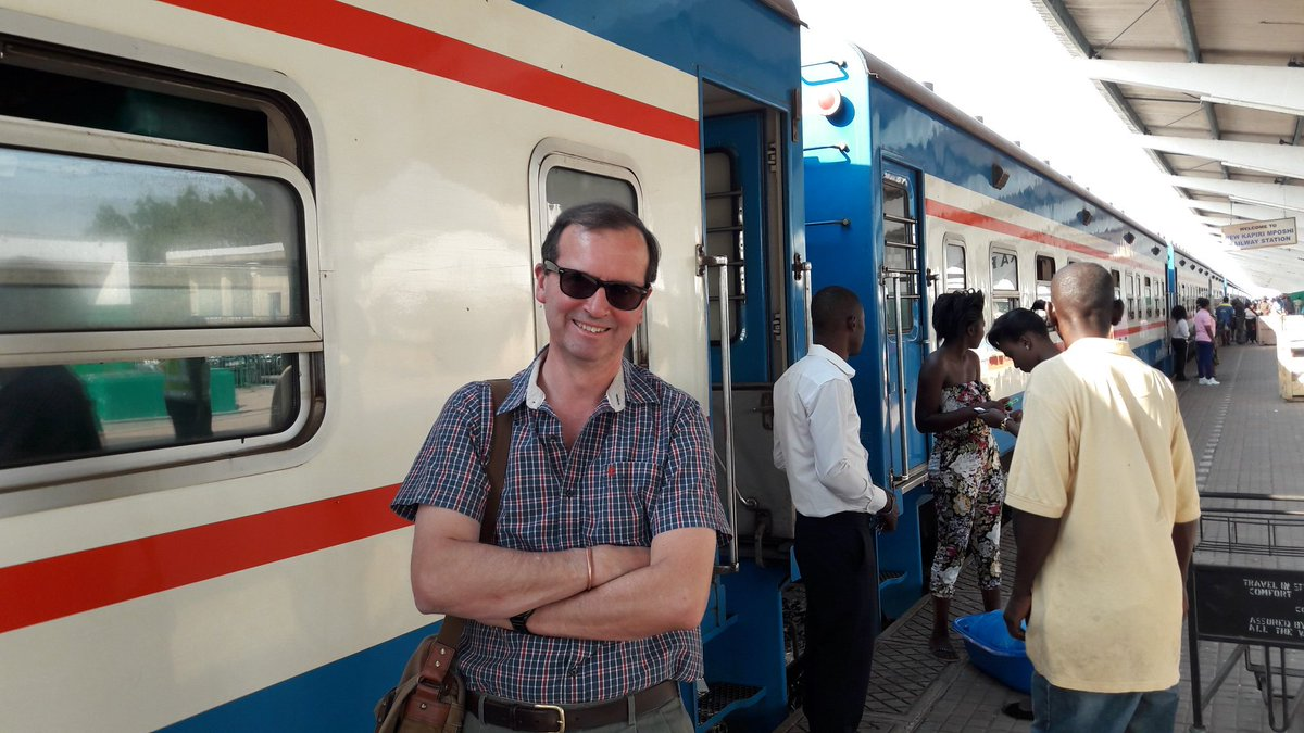 Excited at TAZARA train #Zambia to #Tanzania. 1160 miles, 48 hrs. My cool bag contains lots G&amp;T... Visiting colleagues in Dar @UKinTanzania<br>http://pic.twitter.com/33cydt4Cgj