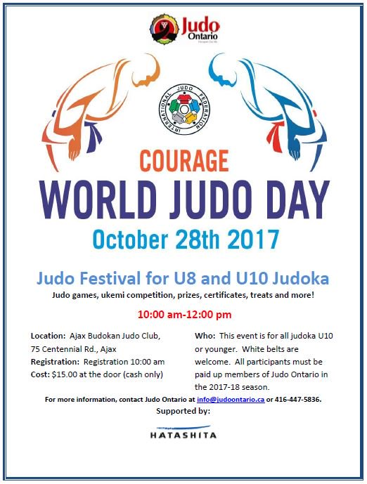 Come and join the fun of World Judo Day 2017!! #judo #worldjudoday #courage #judoisfun #morethanasport #makefriendsforlife <br>http://pic.twitter.com/YD1AFZeAv1