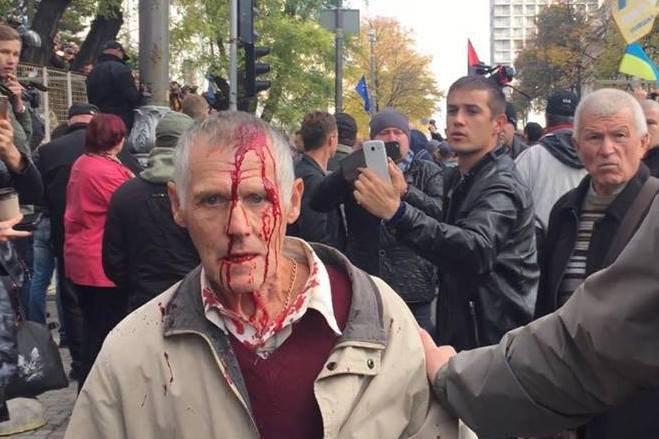 Акция протеста под Радой: Князев сообщил о грабеже имущества Нацгвардии - Цензор.НЕТ 2270