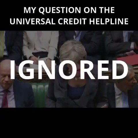 Watch @Theresa_May fail to answer my question on the Universal Credit...
