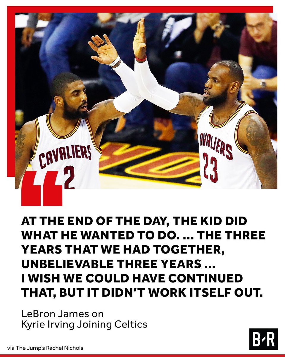 LeBron opens up about Kyrie. https://t.co/EpEG5JJMFE