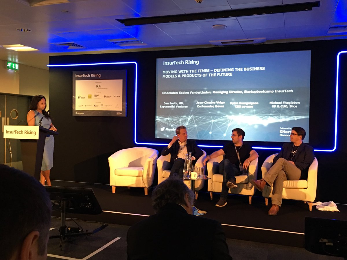 Great #insurtech panel on new #businessmodels chaired by @SabineVdL Co-Editor @InsurTECH_Book #insurtechrising @FTC_Institute #fintechskills<br>http://pic.twitter.com/yh9eO7srBZ