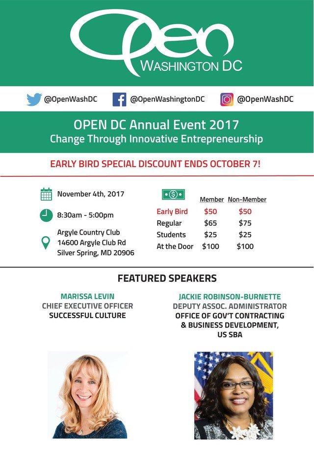 JOIN me @OpenWashDC annual event: &quot;Change Through Innovative Entrepreneurship!&quot; Register now  http:// crwd.fr/2yuuVh1  &nbsp;   #DCevent #entrepreneur<br>http://pic.twitter.com/liURD6waxG