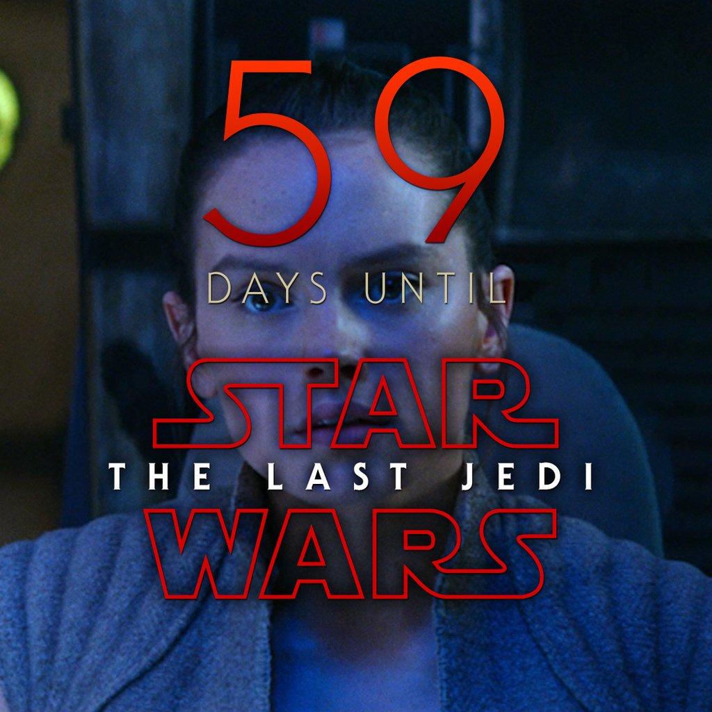 59 days until Star Wars: The Last Jedi #StarWars #LastJedi #EpisodeVIII<br>http://pic.twitter.com/OpJ2iPOq8n