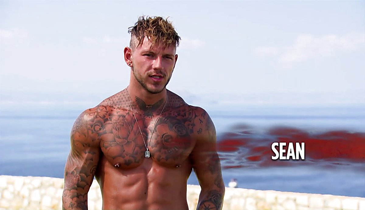 Reality TV star Sean Pratt leaves nothing to the imagination in grey j...