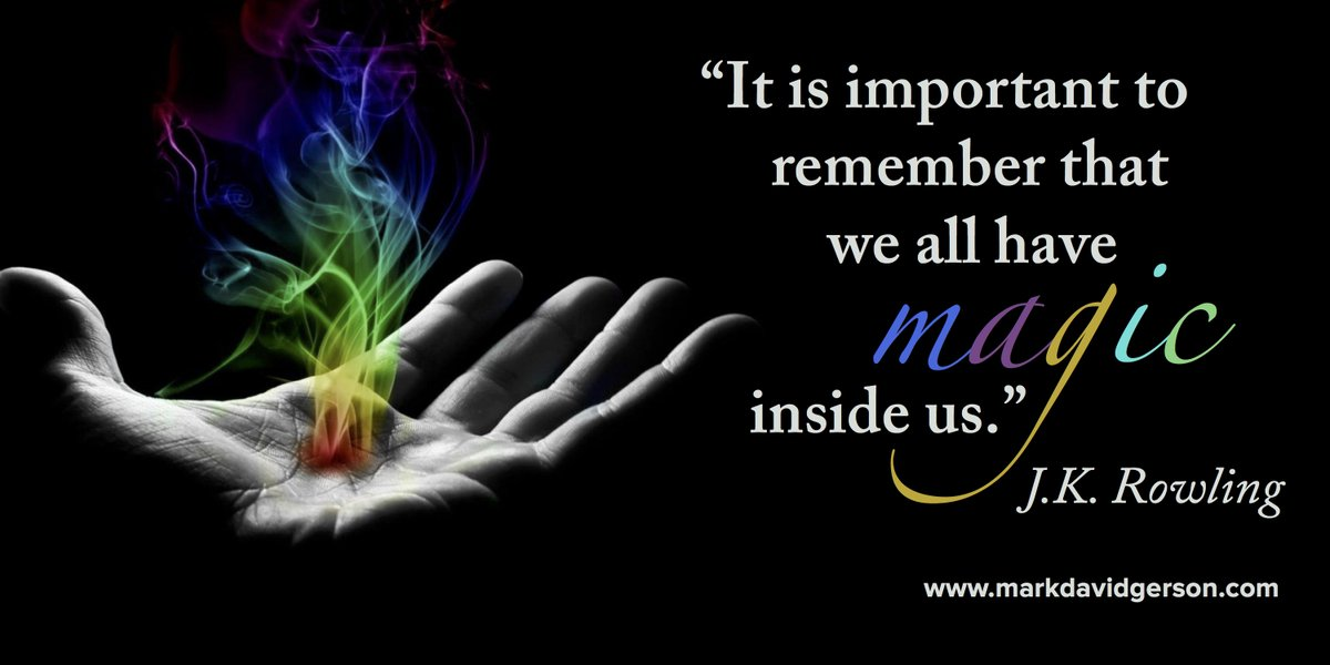 """It is important to remember that we all have magic inside us.&quot; #JKRowling #magic #harrypotter  http:// authorlmhinton.com  &nbsp;  <br>http://pic.twitter.com/j9xYDy8JA0"
