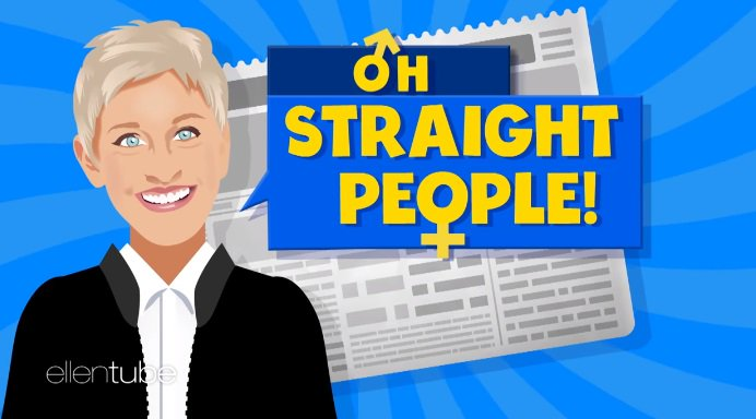 Ellen DeGeneres pokes fun at straight people in a new segment on her s...