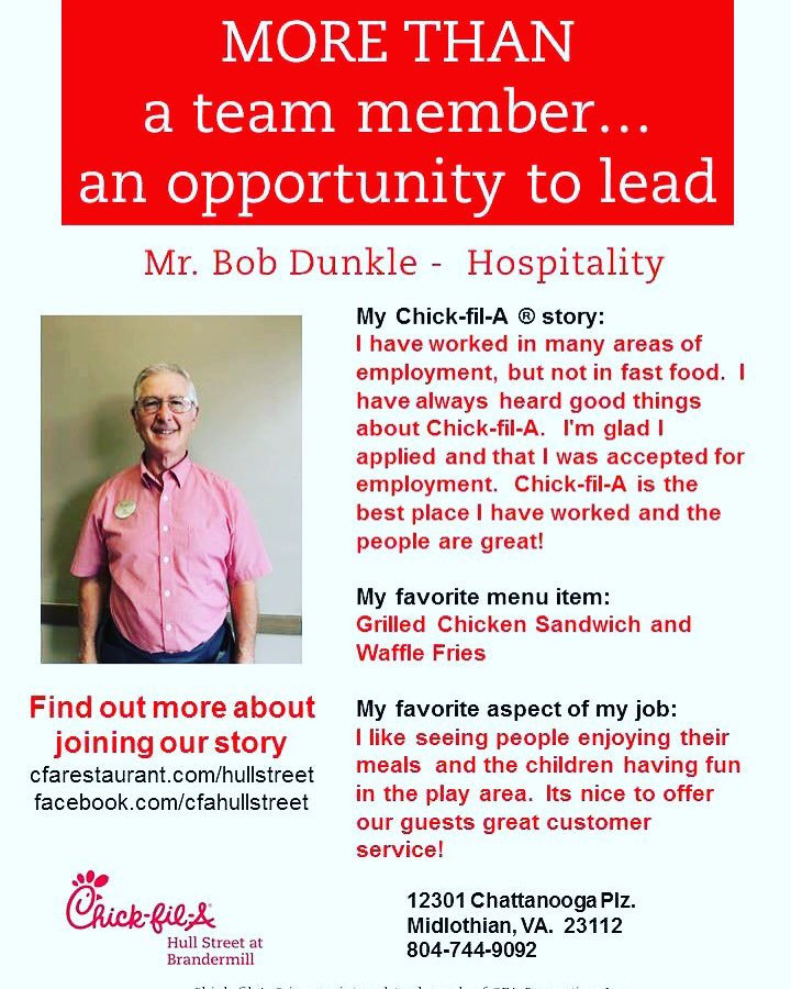 Team Member Tuesday! Learn more about our Team Members and how much they enjoy working for Chick-fil-A! #employment #joinourteam <br>http://pic.twitter.com/71qJRNQ143