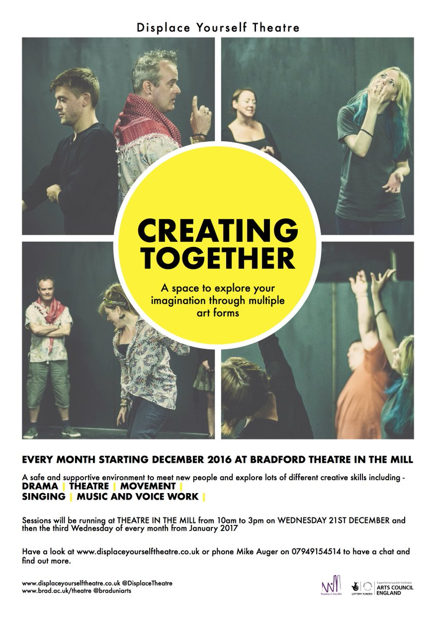 Hello #Bradford friends! Can you help spread the word about amazing free sessions in Bradford w @DisplaceTheatre?   https://www. facebook.com/events/7477674 88746021/ &nbsp; … <br>http://pic.twitter.com/LzItpromPi