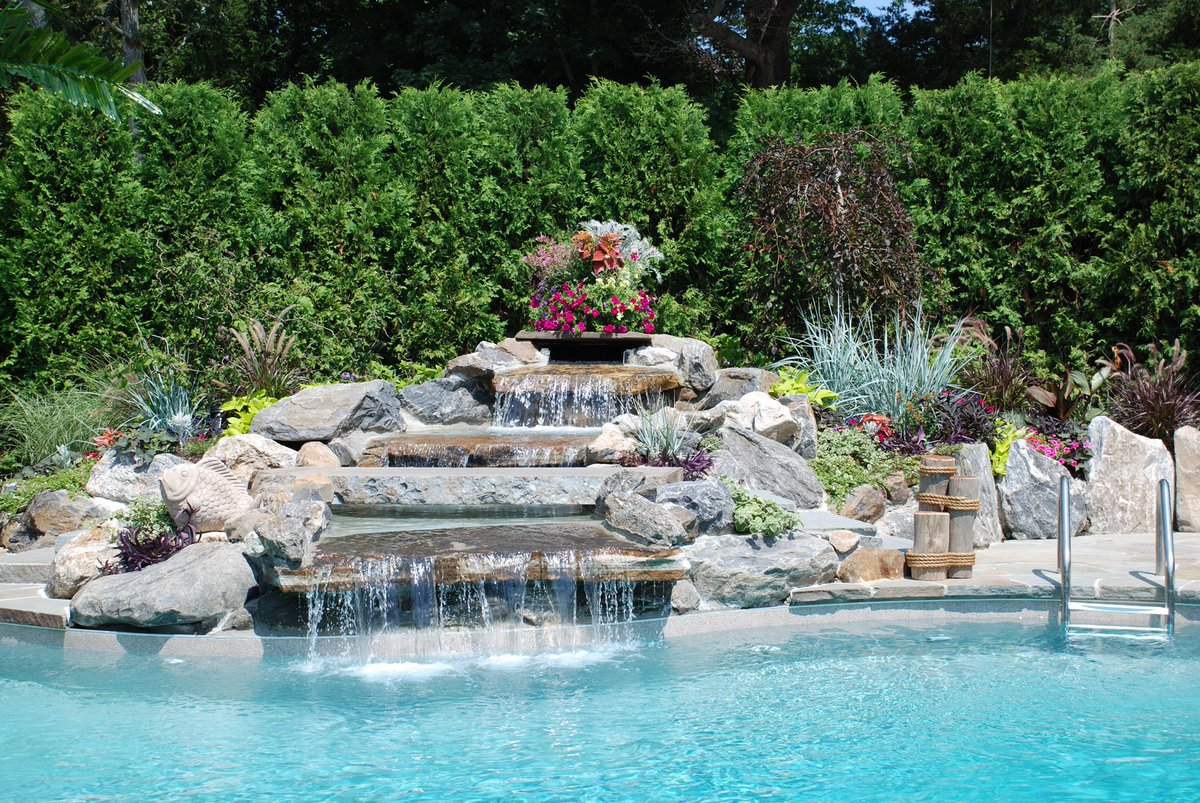 Swim King Pools On Twitter Look At This Tropical Oasis We Brought To Life For A Customer In Aquebogue Swimkingli Longisland