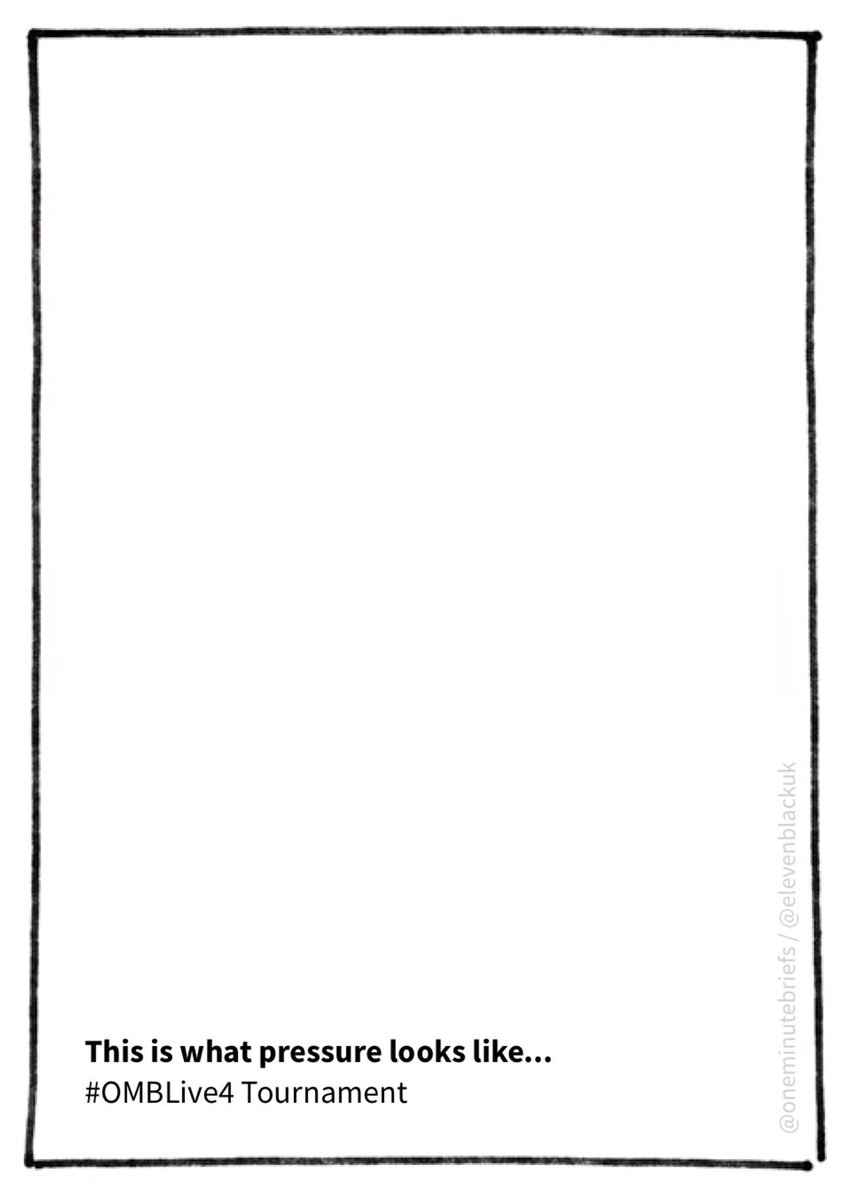 .@OneMinuteBriefs - This is what pressure looks like... #OMBlive4 tournament. #blank #page #OMB #advert #advertising #creative #blankpage<br>http://pic.twitter.com/WMSpBCUVnk