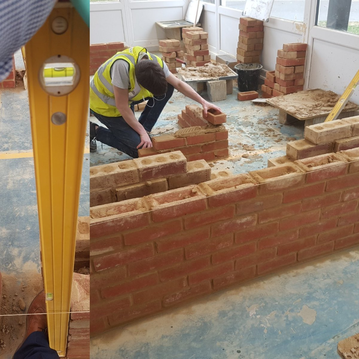 Great work by Level 1A Naomi H. Building brickwork to the line. @BritainBrickMBH @Liz_BreedonCem @FEBrooklands @EveLivett #newskills <br>http://pic.twitter.com/mdbqDVAvPo