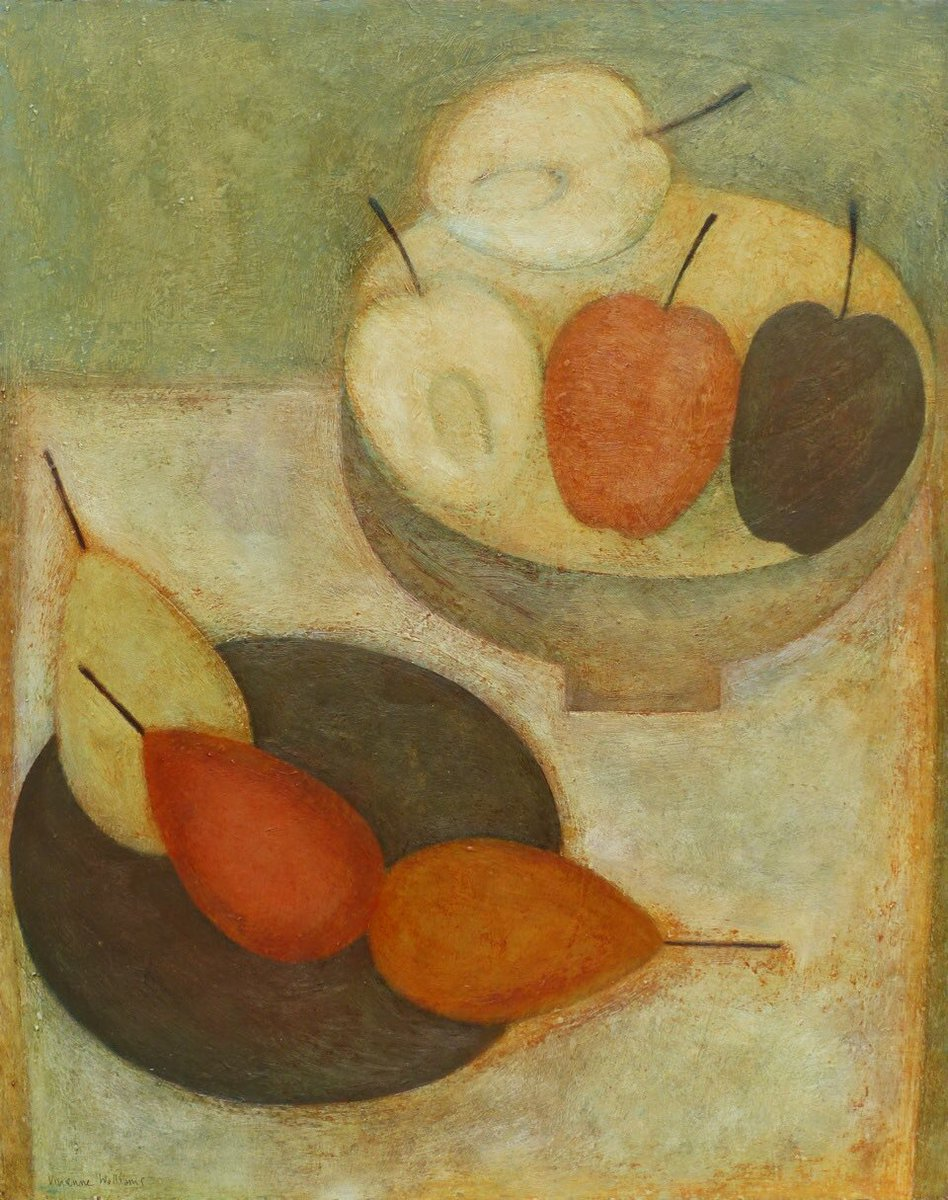 Autumn Apples and Pears, 2017 New #painting for @jerramgallery, #Sherborne #welshart #autumn #fruit #abundance #contemplation #colour<br>http://pic.twitter.com/hUj3I4Ro0v