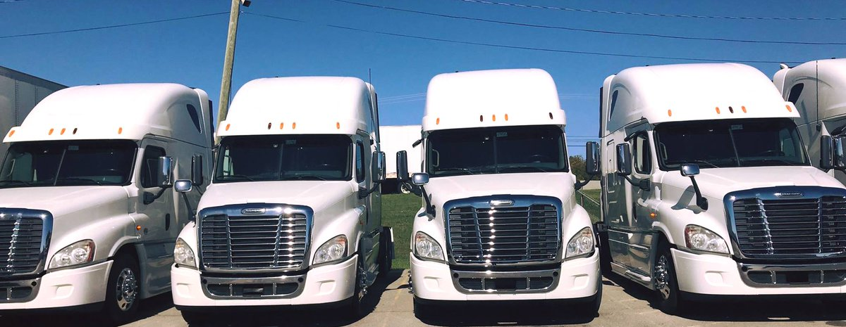 Matched 2014 Freightliners - lease purchase! 615-471-9300 #trucking #trucker #OTR #Freightliner #Transportation