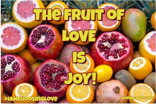 The fruit of Love is Joy! #IAMChoosingLove #joytrain #Love #Joy https://t.co/A84rKjbdcI