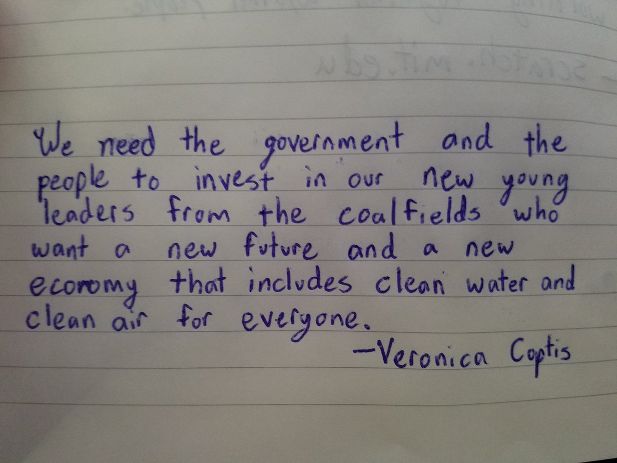 Veronica Coptis. This woman!  #LeadOnClimate @CoalfldJustice #notes #CharacterLimit<br>http://pic.twitter.com/juD7GbMl6h