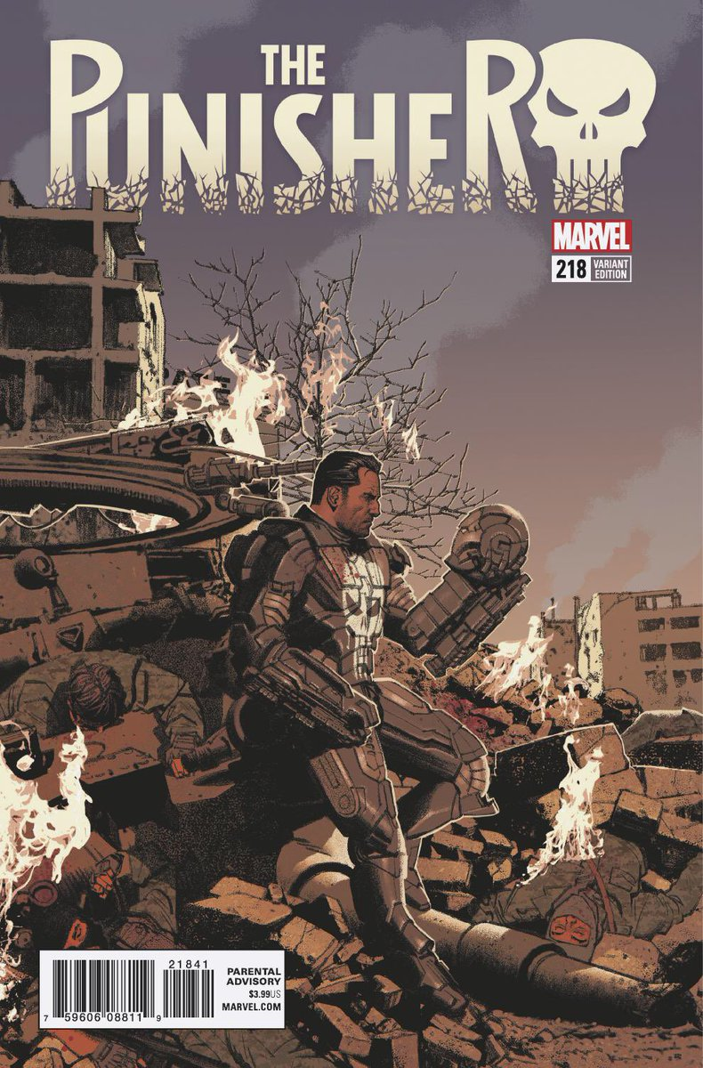"""This above all: to thine own self be true.""  @SavageSmallwood's cover to THE PUNISHER #218  #MarvelLegacy <br>http://pic.twitter.com/PE3d2EAAHv"