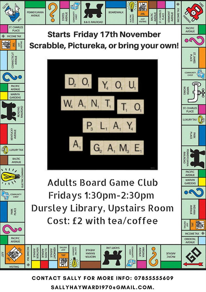 If you&#39;re into fun &amp; games come and join this friendly new club #boardgames #makefriends #funindoors<br>http://pic.twitter.com/h7w7MdXvR1