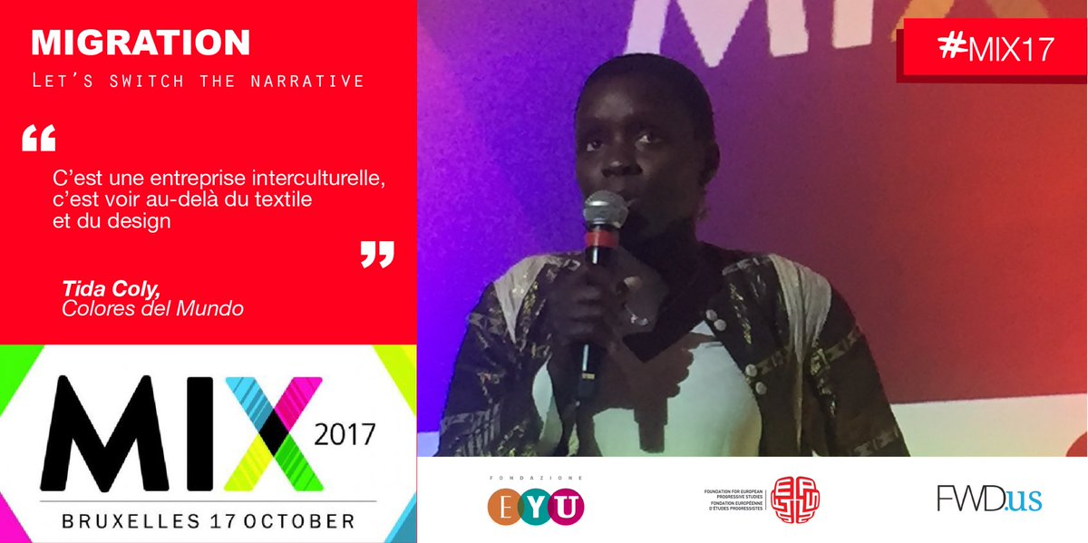 .@TIDACOLY makes European designs with African fabrics and create fashion clothes inspired in her native country, Senegal #MIX17 #migrants <br>http://pic.twitter.com/ruoVirZulj
