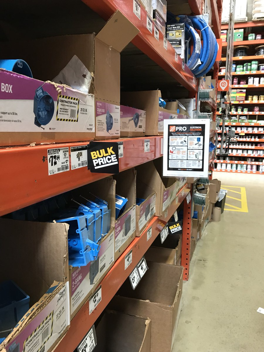 We @HomeDepot2505 are shouting out #PRO #MRO in electrical!  Visit our Pro Desk to save! #Baltimore #REO #Rehab #Contractors<br>http://pic.twitter.com/F6UlnadI78 &ndash; à The Home Depot