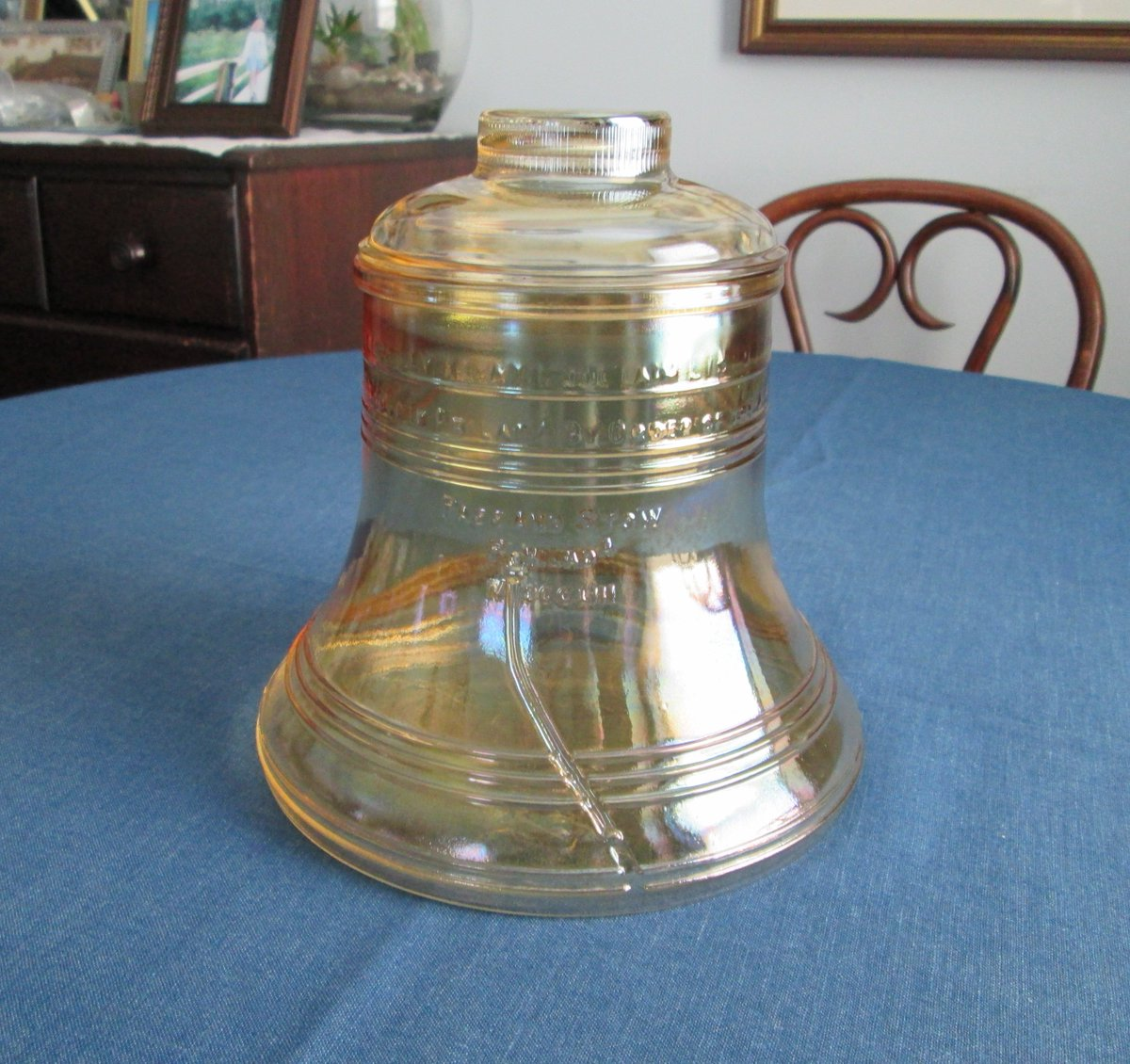 Vintage 1976 Liberty Bell Bicentennial Glass Cookie Jar #vintage #kitchen  http:// etsy.me/2yuO9Te  &nbsp;   via @Etsy<br>http://pic.twitter.com/HZeQbhUtfi