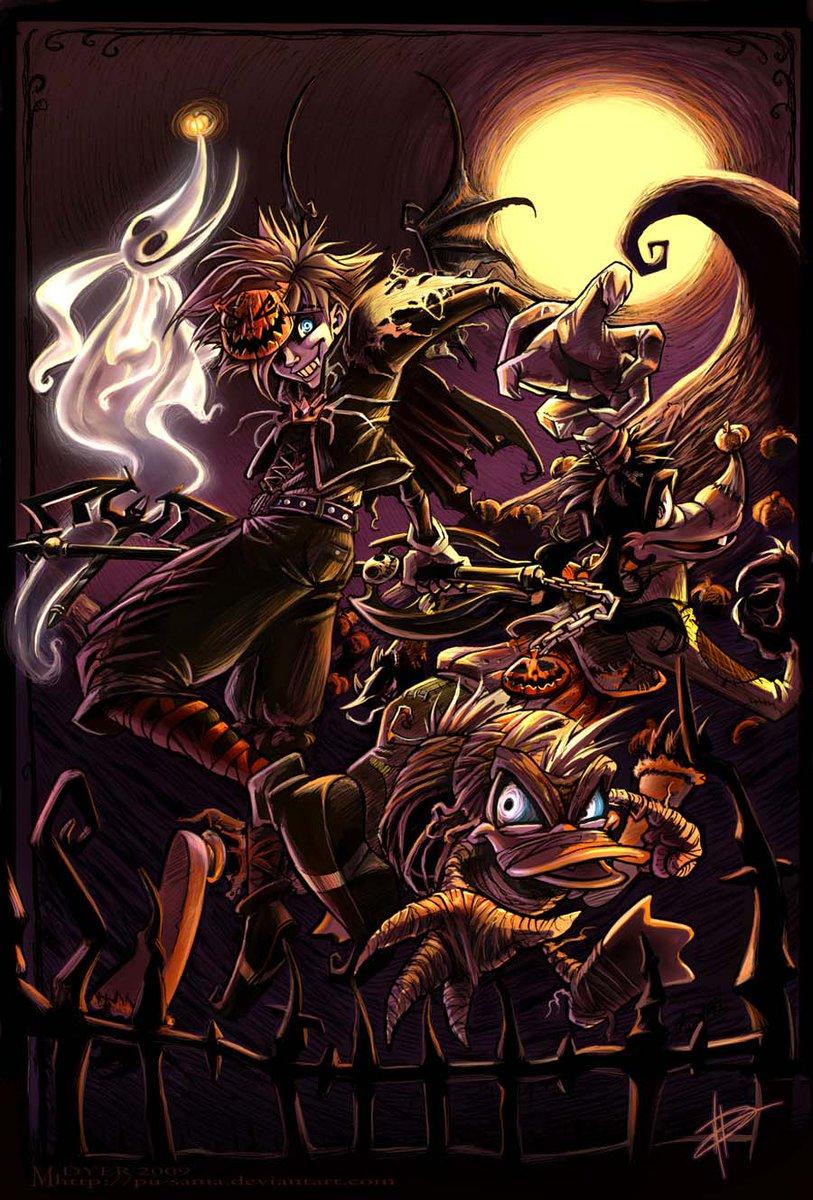 The #FanArt of #KingdomHearts   Artist: pupukachoo  #KH #KHUX #Sora #Donald #Goofy #Halloween #Halloween2017 #HalloweenIsComing #Art<br>http://pic.twitter.com/l0FC4ulw3V