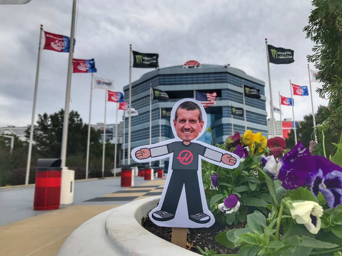 Our friend @FlatSteiner continues the fan tour just a few miles south of #HaasF1 at @CLTMotorSpdwy!   #Haastin<br>http://pic.twitter.com/hVdihuhCsW