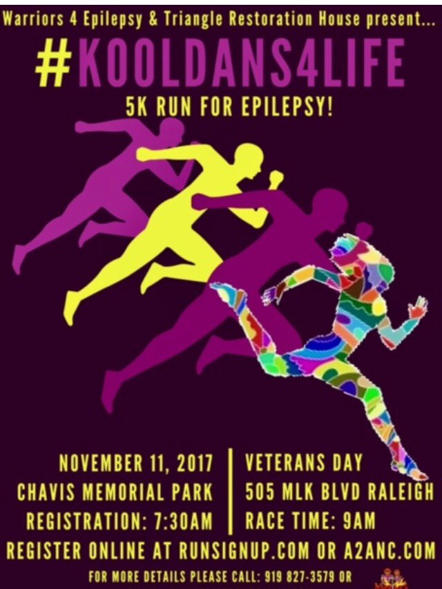 Did you know that #November is #Epilepsy awareness month? Join #Raleigh's @war4epilepsy for 5k run to support #epilepsy #kooldans4life #news<br>http://pic.twitter.com/xyDMzKQDmh