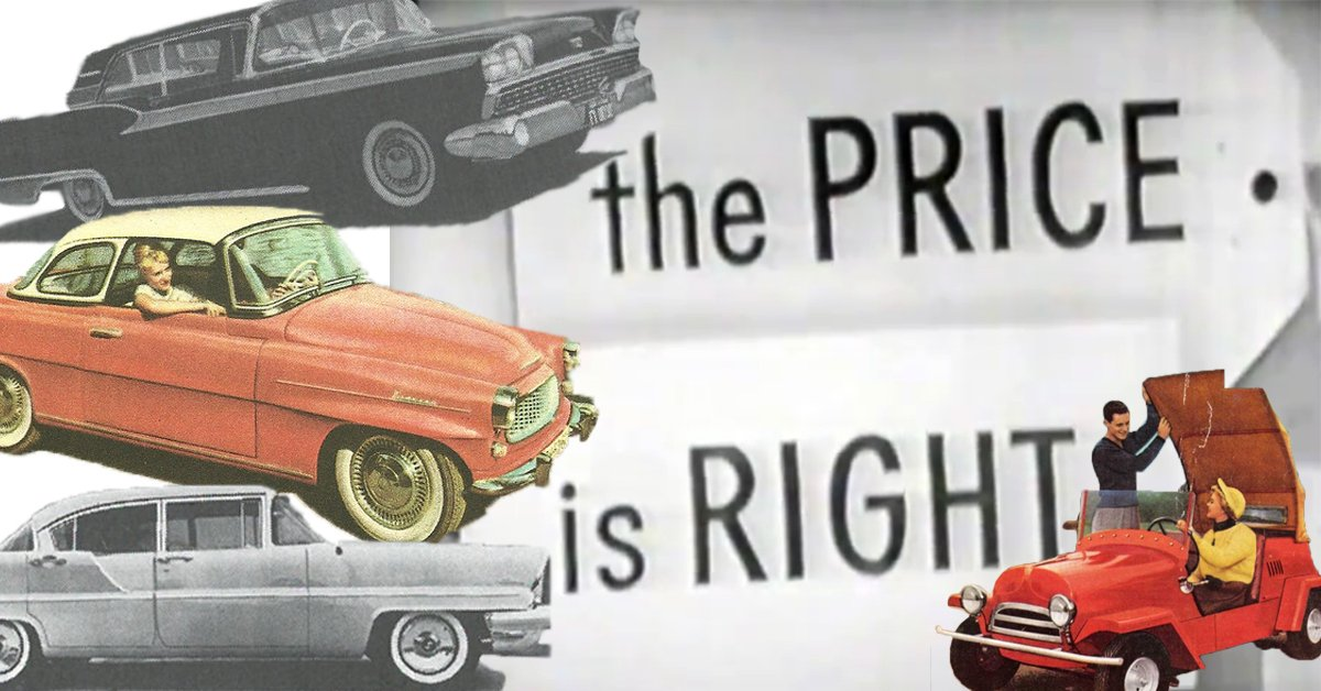 10 super-rare cars people won on The @PriceIsRight in the '50s and '60...