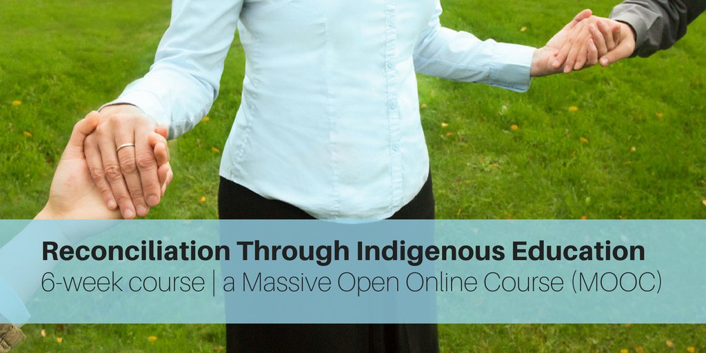 The Reconciliation Through Indigenous Education #MOOC starts today! Don&#39;t miss your chance to register! |  http:// pdce.educ.ubc.ca/reconciliation  &nbsp;  <br>http://pic.twitter.com/DhFqk7xqiG