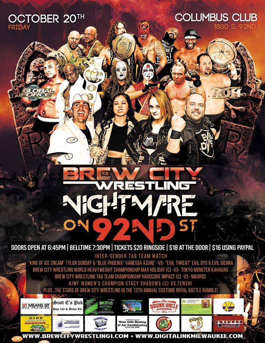This Friday night! Costumes, wrestling, pure and utter Mayhem #AllDay! Come and check it out for yourself #WhoopWhoop #MarsheAllDay <br>http://pic.twitter.com/32mnAi4z6I