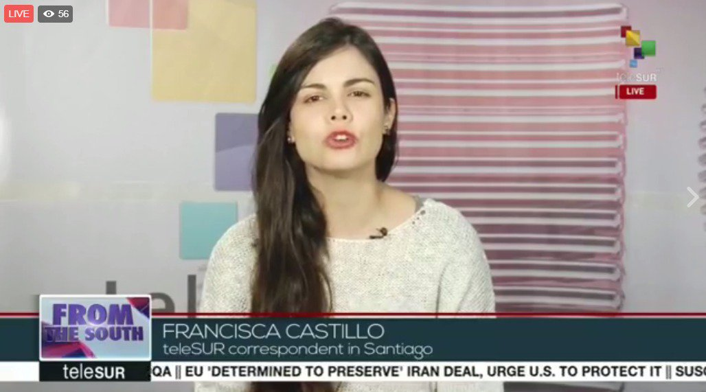 #Live | From the South: @franciscatleSUR public workers in Chile called for a general strike.
