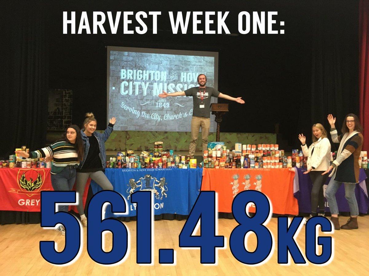 Week 1 of #Harvest @brightoncm  561.48kg<br>http://pic.twitter.com/7eu2LdvWBf