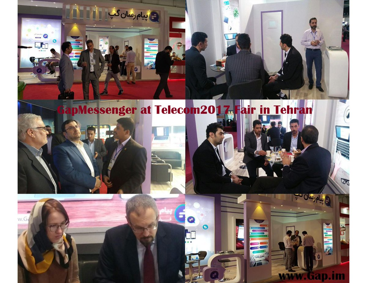 Gap #Messenger had a great 2 days at #Tehran #telecom fair meeting with potential #business partners and #interesting visitors. #RETWEEET<br>http://pic.twitter.com/aTF8vXvY79