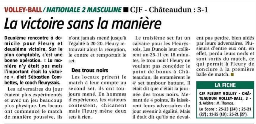 CJF - Châteaudun : 3-1