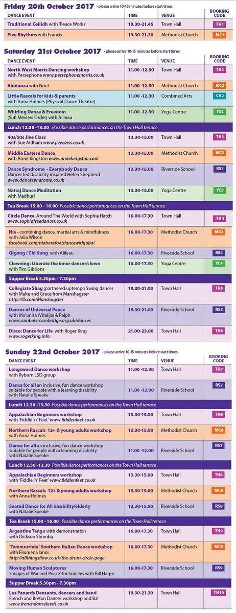 #HebdenBridge #Dance #Festival 20-22 Oct #Yorkshire 26 events 5 venues 1w/e #Biodanza #Jive #Nia #5Rhythms, #Morris,  http:// HBdanceF.org.uk  &nbsp;  <br>http://pic.twitter.com/Ag15z0ZpG8