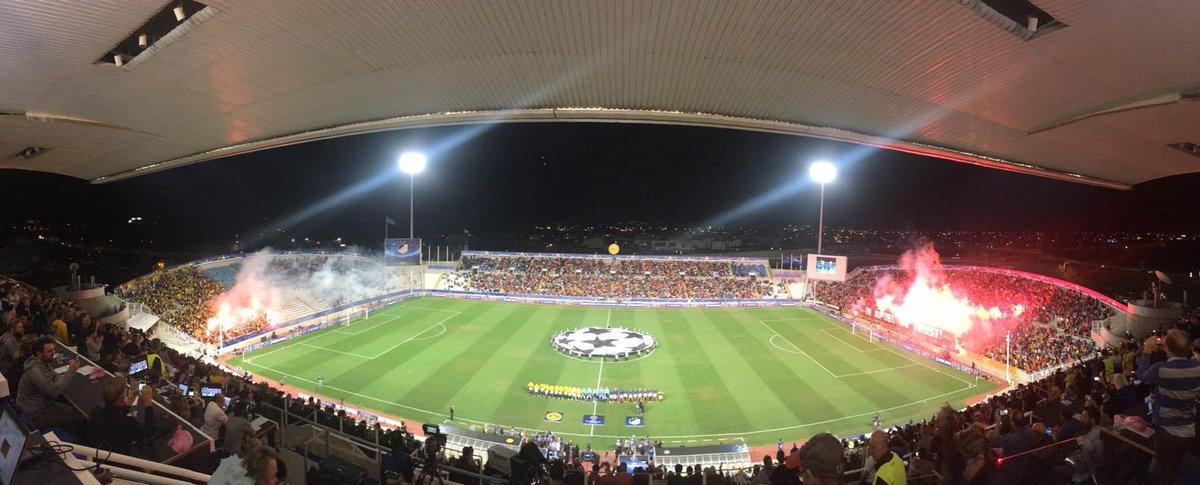 UCL: APOEL - Borussia Dortmund few minutes ago #ucl #dortmund #bvb #borussia #APOEL #ultrastifo<br>http://pic.twitter.com/Vppg45tLAx